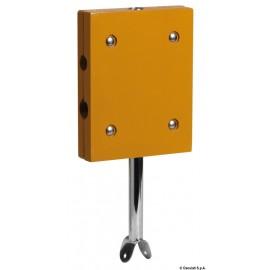 Supporto motore ausiliario per il fissaggio sul pulpito di poppa