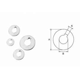 RONDELLA INOX ASSE.D25mm