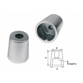 OGIVA ZINCO RADICE ASSE D.22-25mm