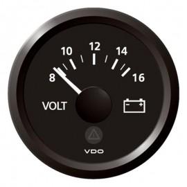 VOLTMETRO VDO 8-16 V / 52mm